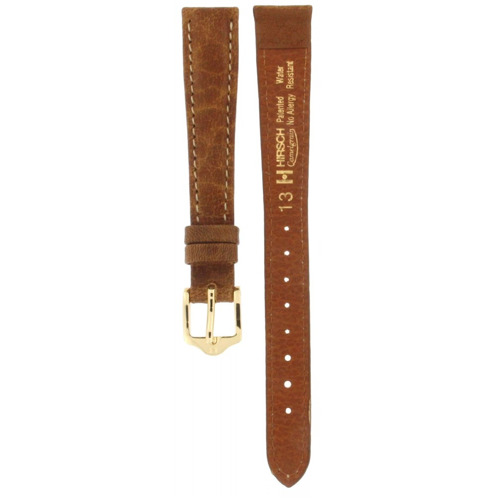 HIRSCH CAMELGRAIN HONEY BROWN LEATHER STRAP 13MM ACC386-03