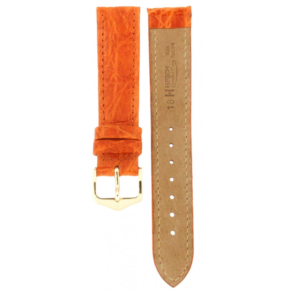 HIRSCH ORANGE CERTIFIED CROCODILE LEATHER 18MM ACC267-03
