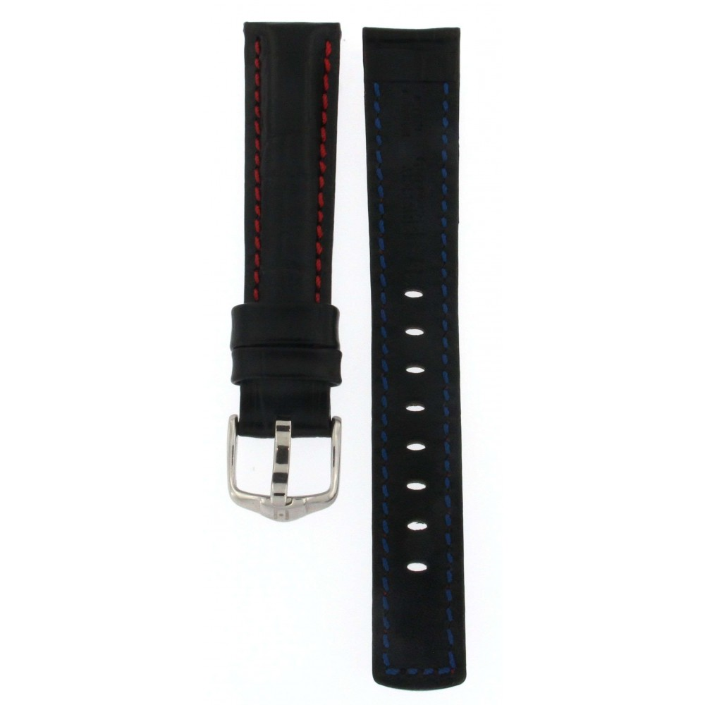 HIRSCH GRAND DUKE BLACK WATER RESISTANT LEATHER 18MM ACC262-01