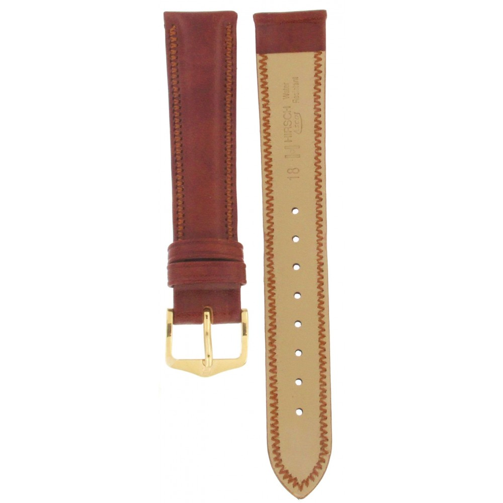 HIRSCH ASCOT BROWN LEATHER STRAP 18MM ACC275 01575070-1-18-02