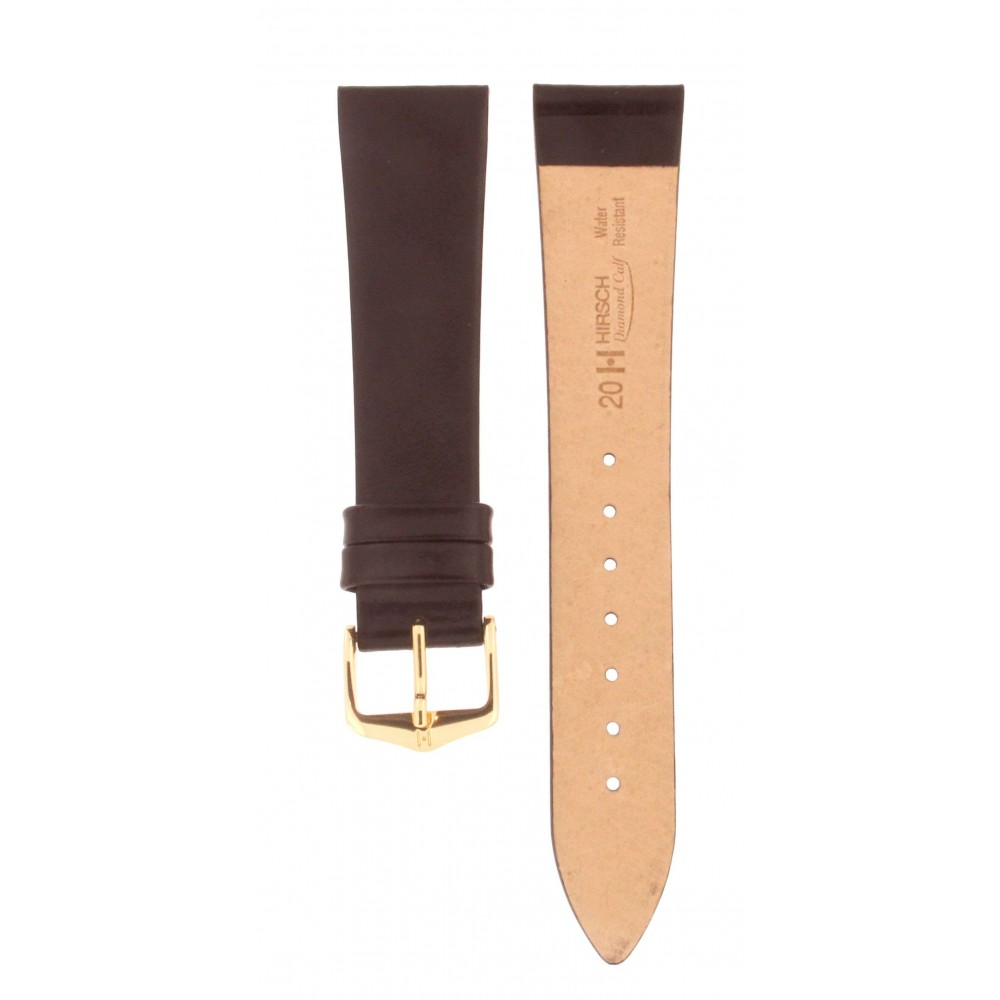 HIRSCH DIAMOND CALF BLACK STRAP 20MM ACC225-01