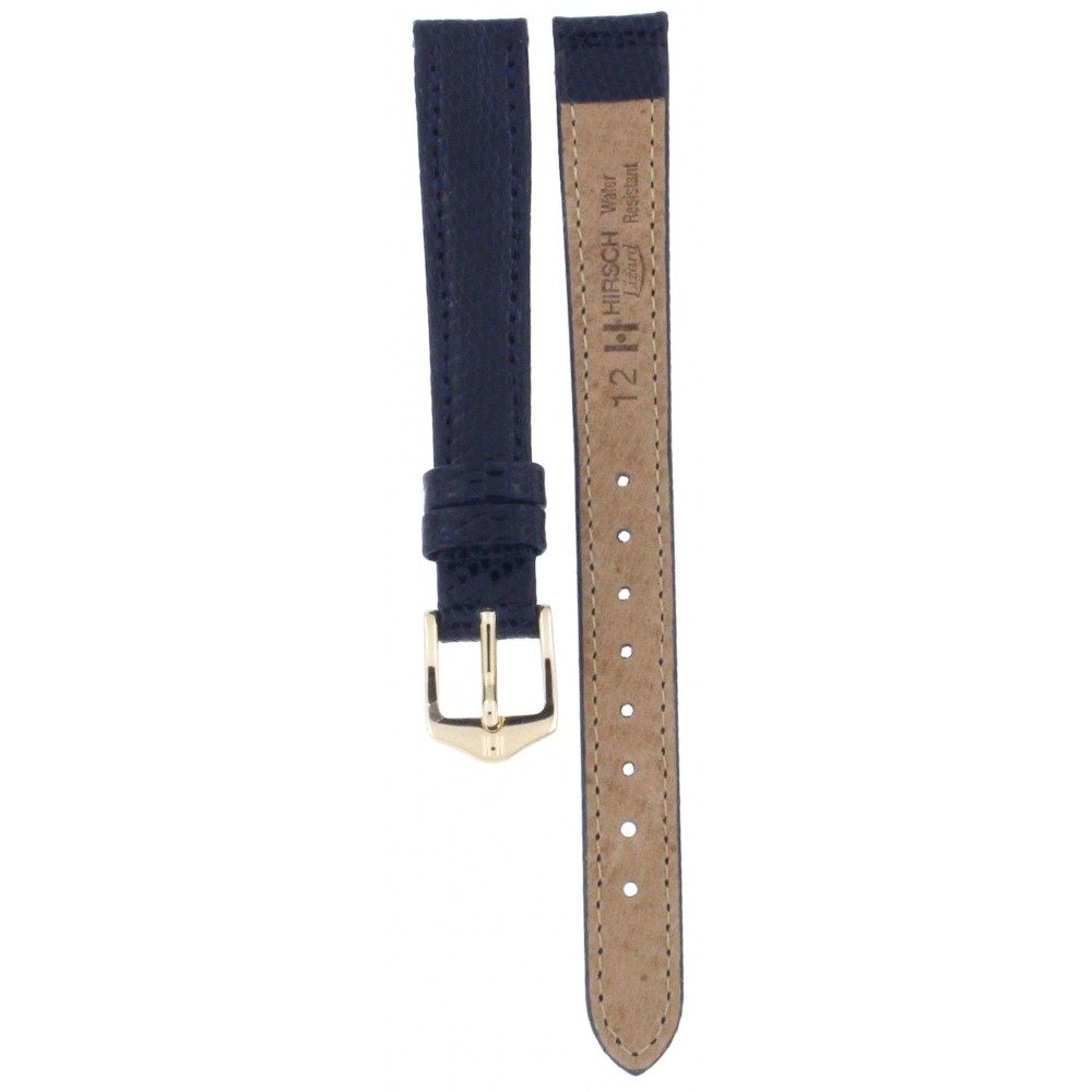 HIRSCH LIZARD BLUE LEATHER STRAP 12MM ACC367-02