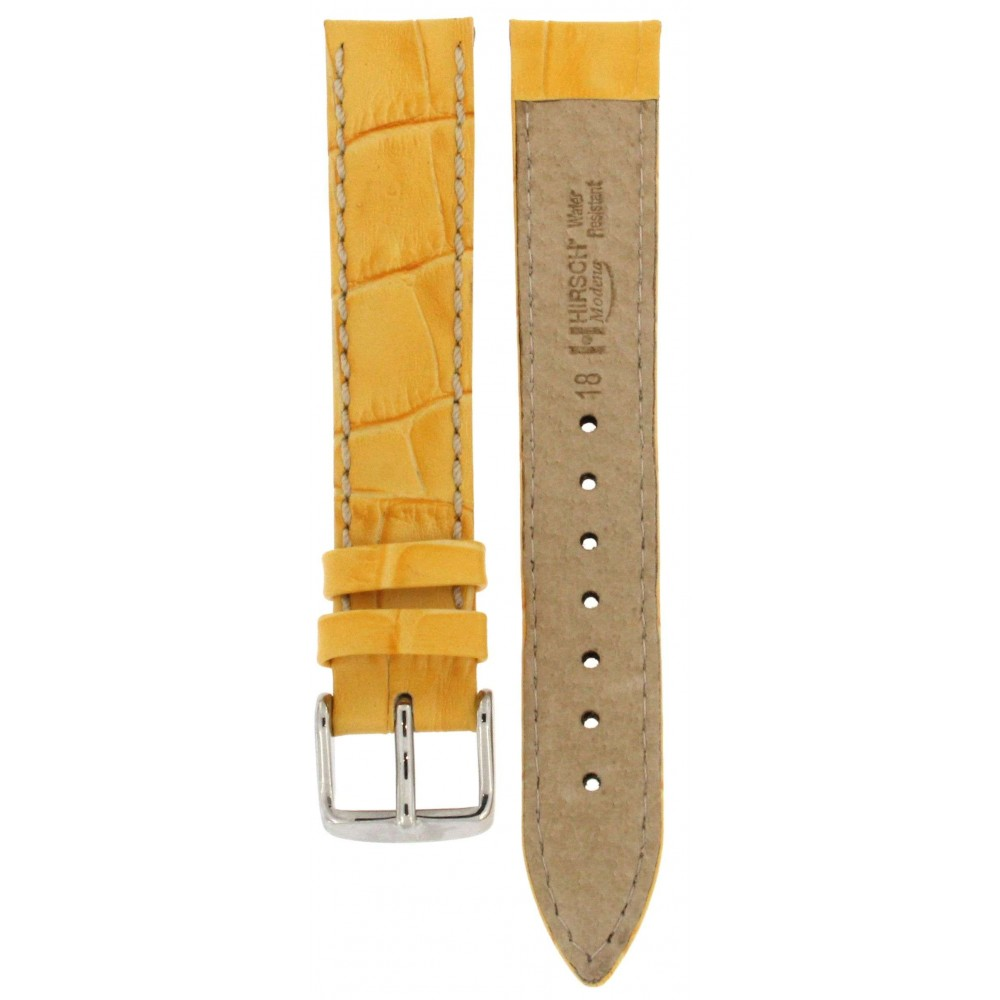 HIRSCH MODENA YELLOW CROCODILE EMBOSSED 18MM ACC257 10302872-01