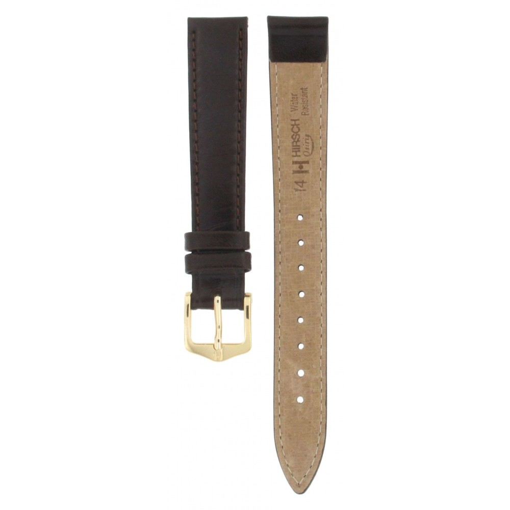 HIRSCH OSIRIS BROWN LEATHER STRAP 14MM ACC337-01