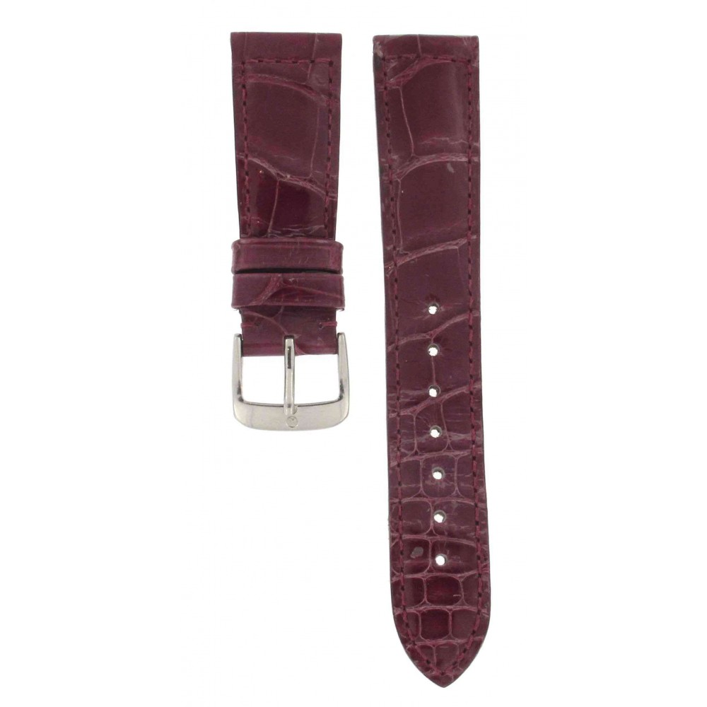 HIRSCH PURPLE CROCODILE STRAP 20MM ACC191-01