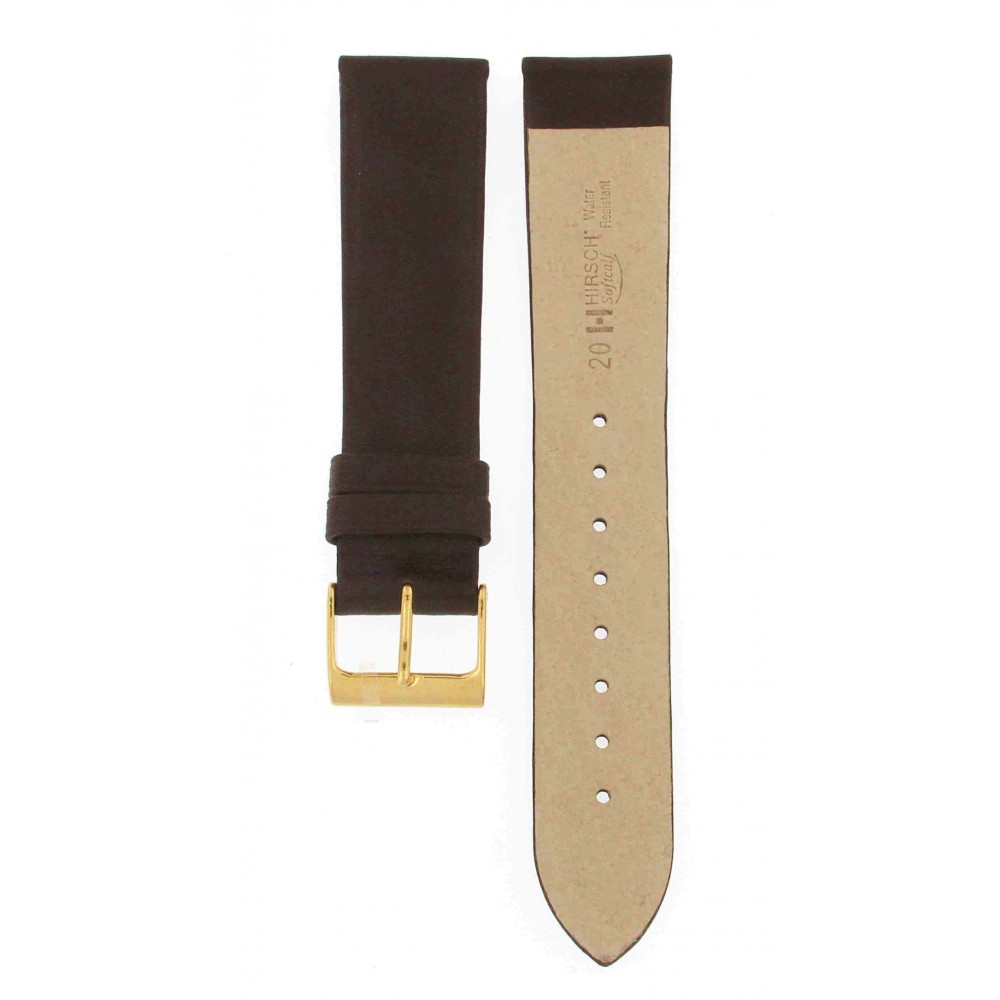 HIRSCH SOFT CALF BROWN LEATHER 20MM ACC173-01