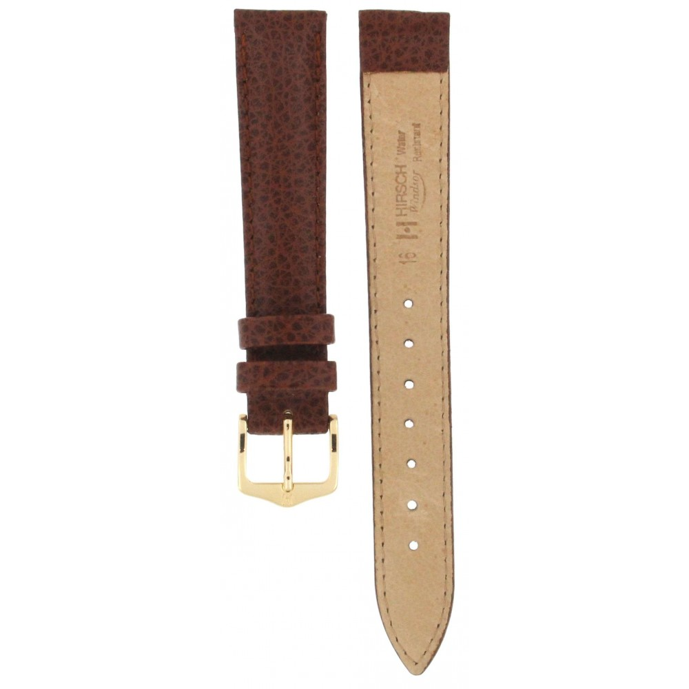 HIRSCH WINDSOR BROWN LEATHER STRAP 16MM ACC316-01