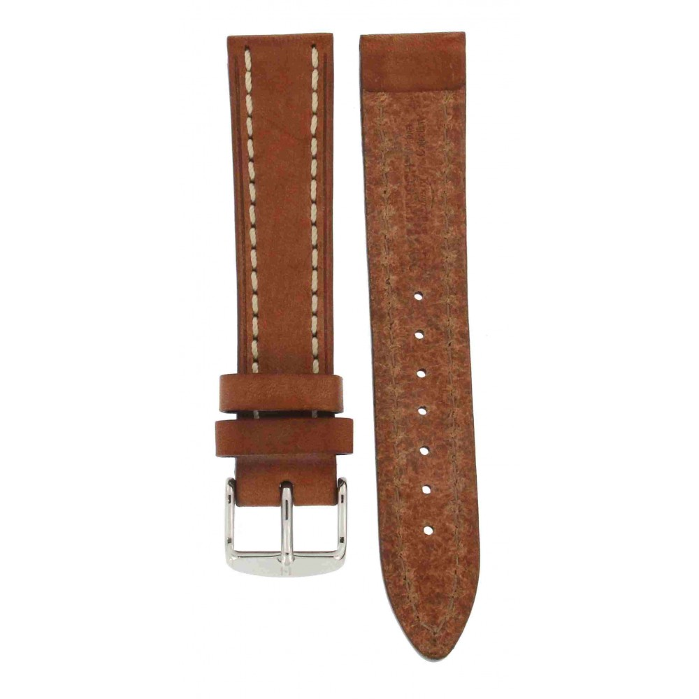 HIRSCH LIBERTY HONEY BROWN THICK CALF STRAP 20MM ACC197-02