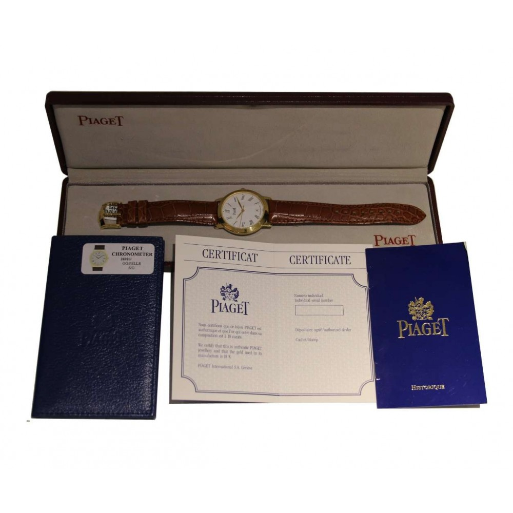 ALTIPLANO CHRONOMETER 26920 YELLOW GOLD LEATHER 35MM W190 G0A22134-08