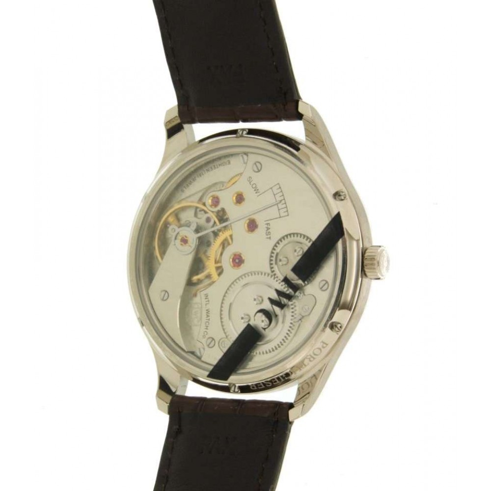 PORTOGHESE HAND-WOUND IW544504 WHITE GOLD LEATHER 44MM W559 IW544504-012