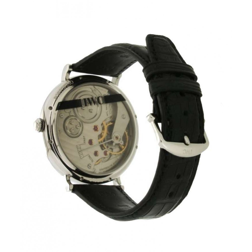 PORTOFINO HAND-WOUND IW544801 IN STEEL AND LEATHER, 46MM W560 IW544801-00