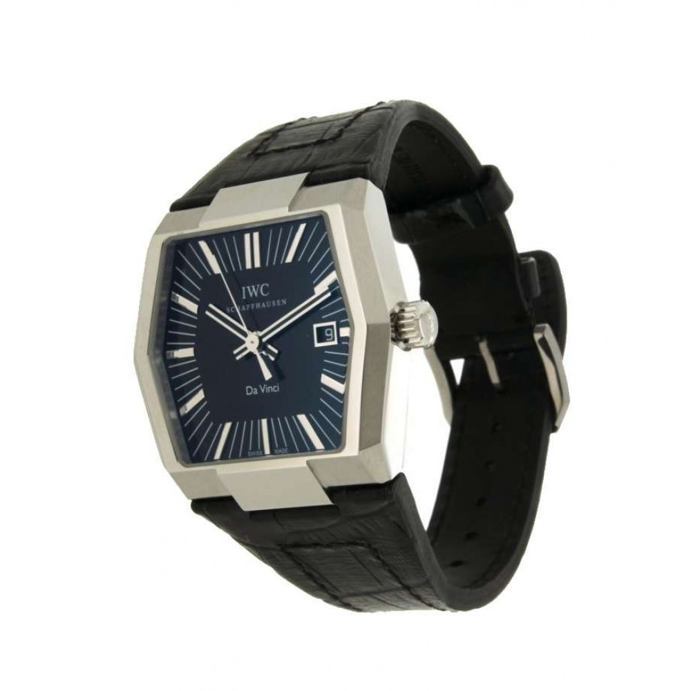 IWC DAVINCI VINTAGE AUTOMATIC IW546101 IN STEEL AND LEATHER, 41MM (Official Price: 8,100 CHF) W561 IW546101-06