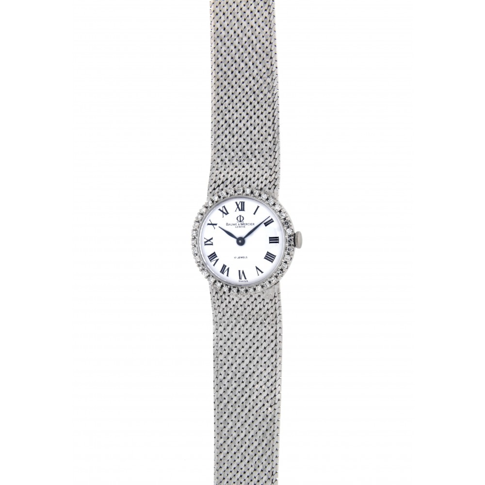 BAUME and MERCIER LADY, WHITE GOLD, DIAMONDS, 24MM W2195 .-06