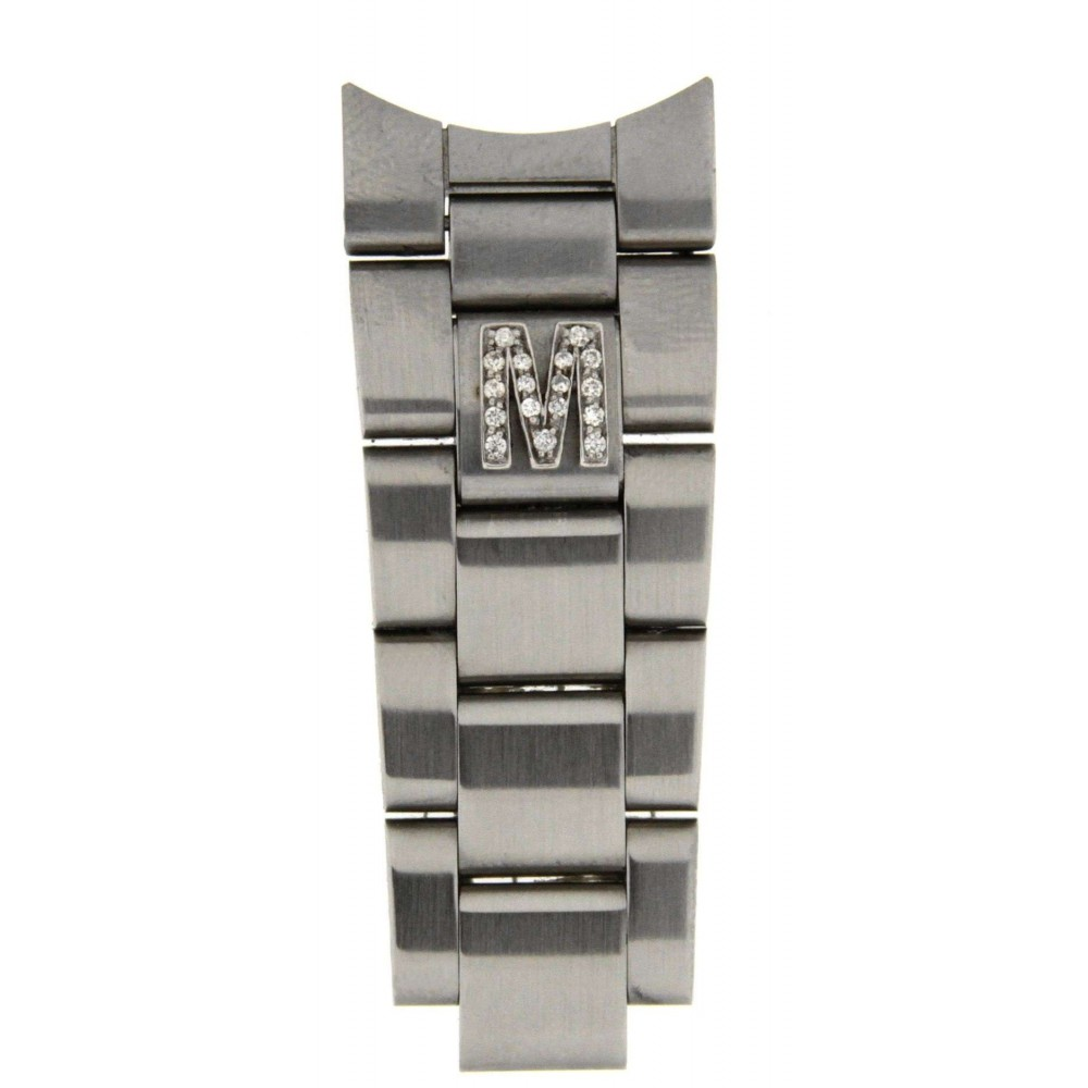 "LETTER ""M"" IN DIAMONDS ACCESSORY FOR ROLEX OYSTER BRACELETS ACC36 .-01"
