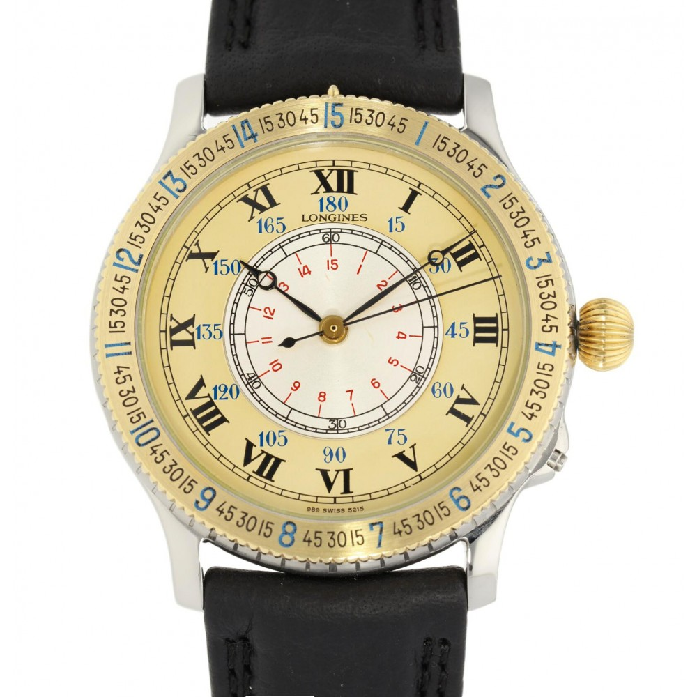 LINDBERGH 989.5215 STEEL AND YELLOW GOLD 38MM W4796 989.5215-03