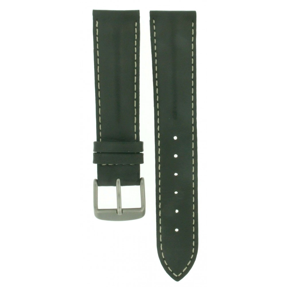 MILITARY GREEN CALF LEATHER STRAP 20MM ACC303-01