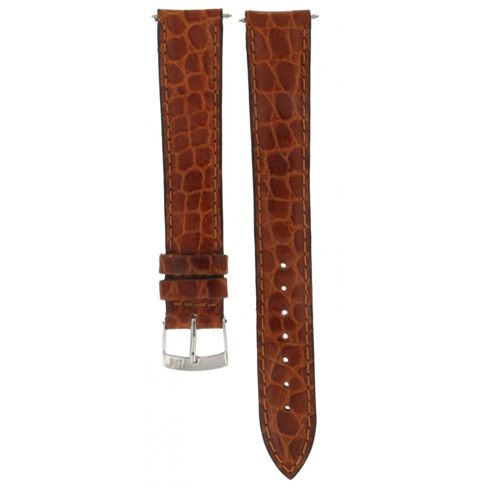 MORELLATO BROWN CROCODILE EMBOSSED LEATHER STRAP 18MM ACC307-01