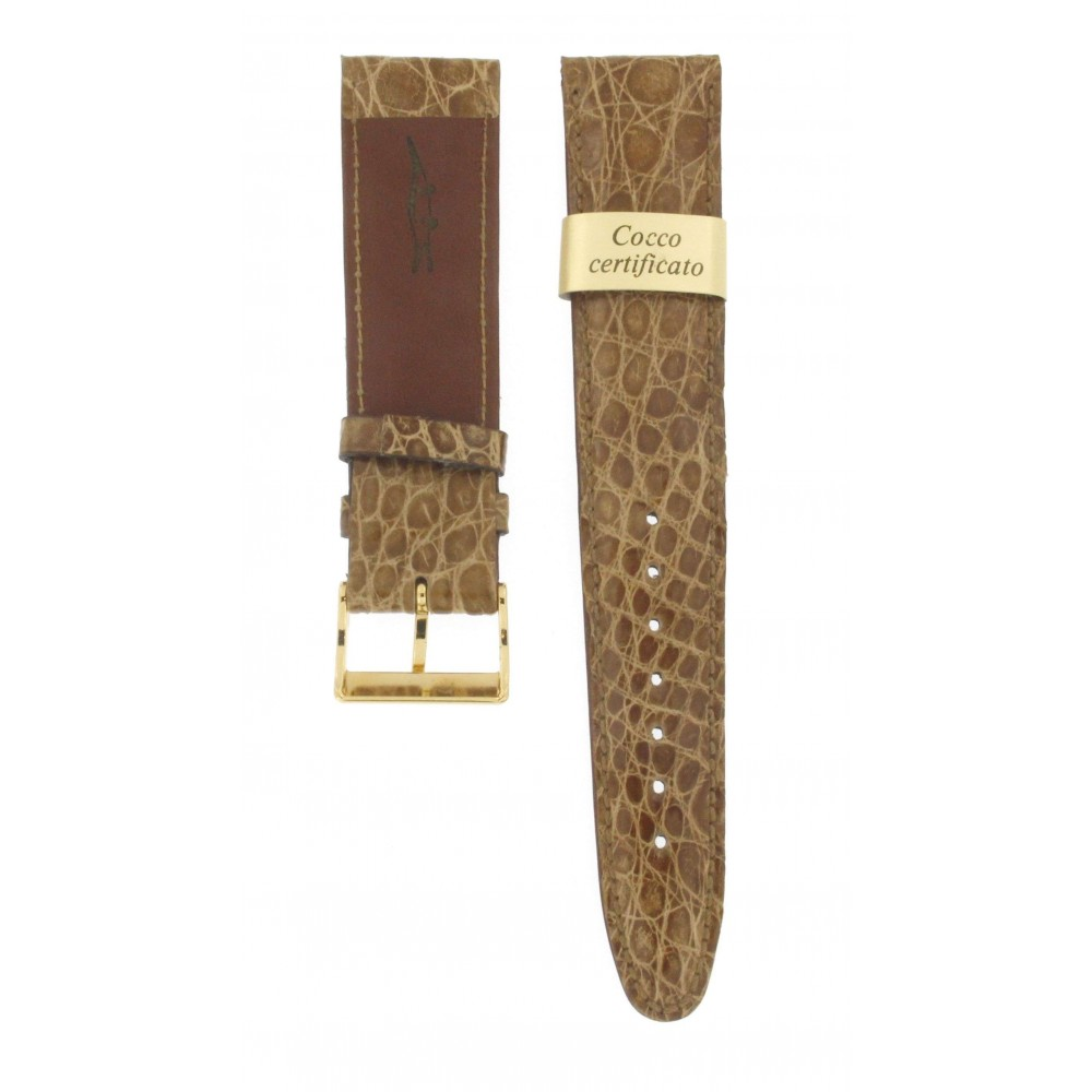 MORELLATO LIGHT BROWN GENUINE CROCODILE STRAP 20MM ACC207-01