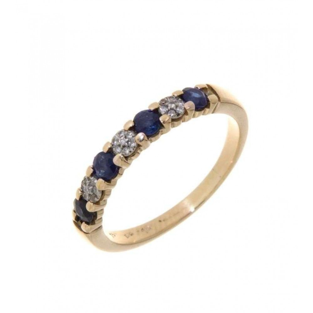 RING YELLOW GOLD, DIAMONDS ZAFIR J723-02
