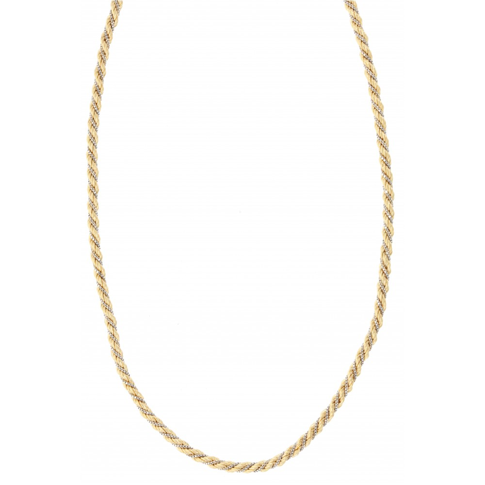 NECKLACE 10.5GR YELLOW GOLD WHITE GOLD J1166-02