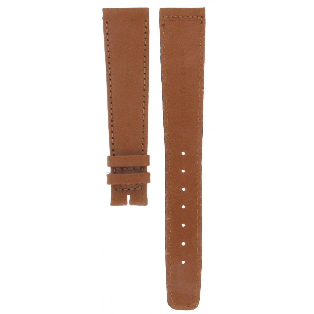 OMEGA 60 BROWN LEATHER STRAP 18MM ACC280-01