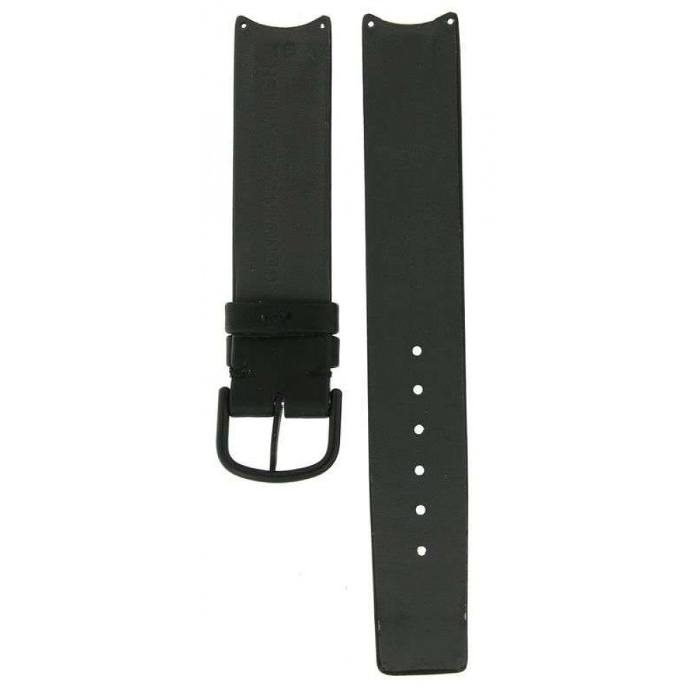 OMEGA BLACK LEATHER STRAP FOR ART COLLECTION RICHARD PAUL LOHSE 1988 REF: 1960440 / 1960430 / 1964140 / 1960440 16MM/16MM ACC981-02