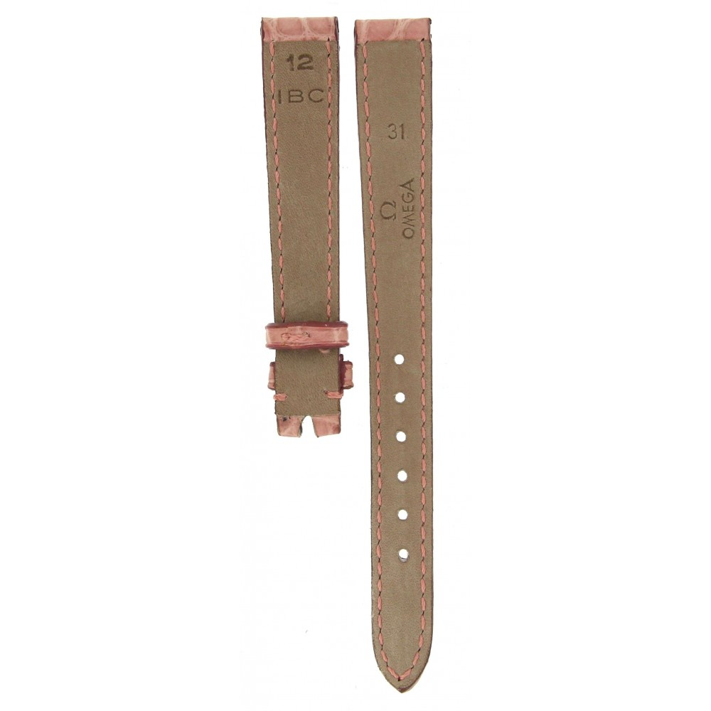 OMEGA PINK CROCODILE LEATHER STRAP 12MM/10MM ACC78-03