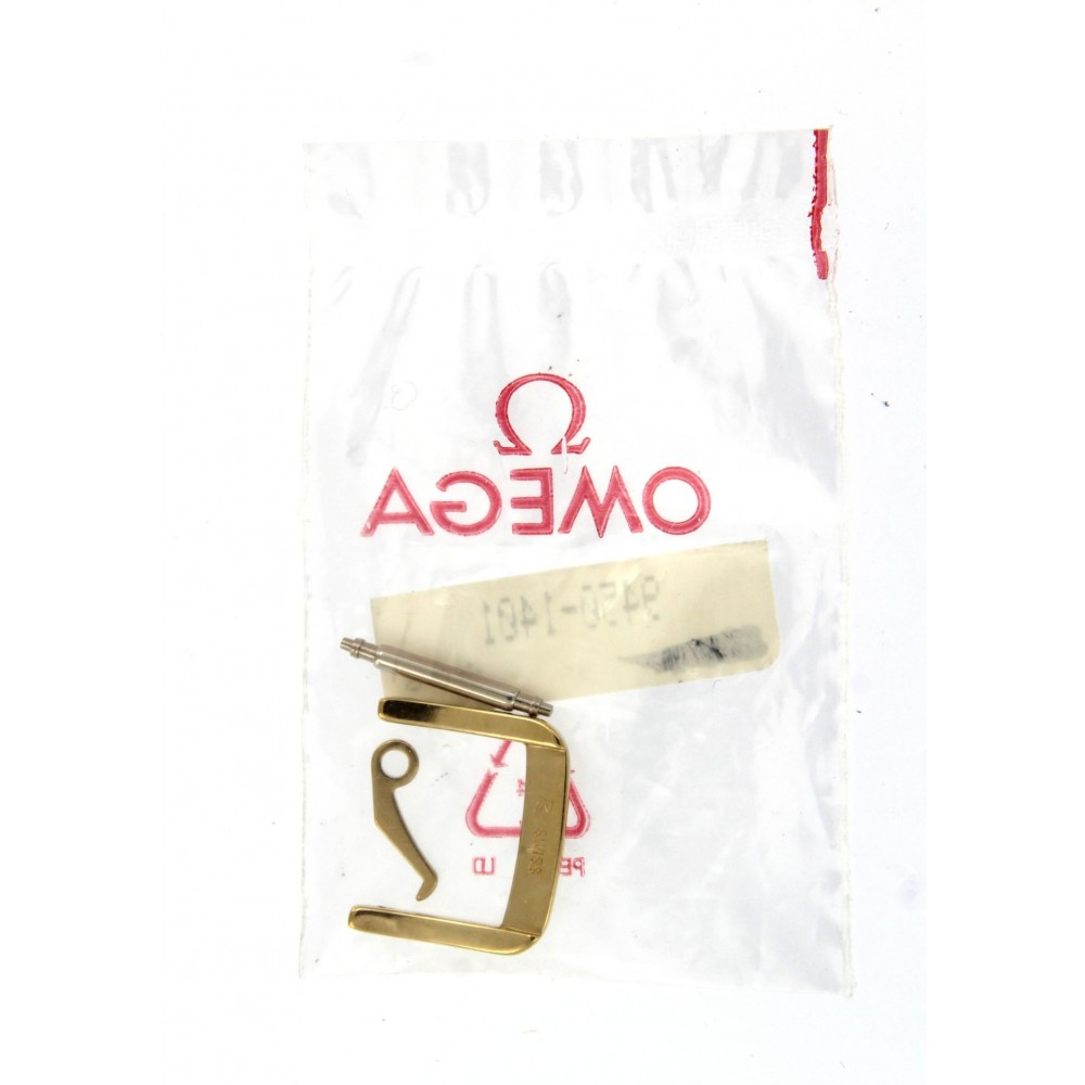 OMEGA YELLOW GOLD PLATED TANG BUCKLE 14MM ACC3064 9450-1401-01