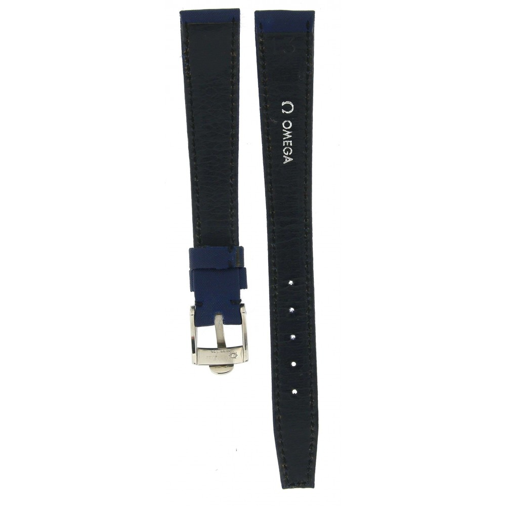 OMEGA CLASSIC BLUE TEXTILE LEATHER STRAP 13MM/10MM ACC82-02