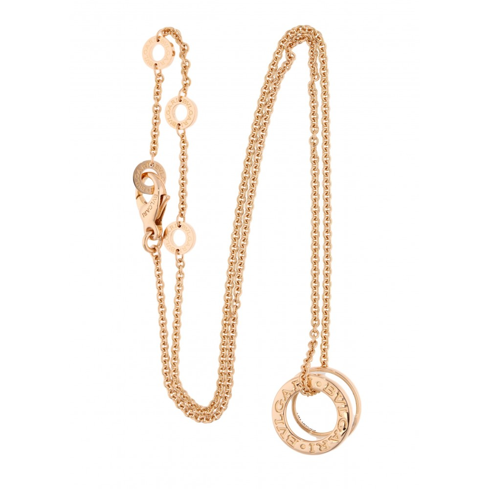 NECKLACE B-ZERO 346082 IN ROSE GOLD WHITE CERAMIC J1051-01