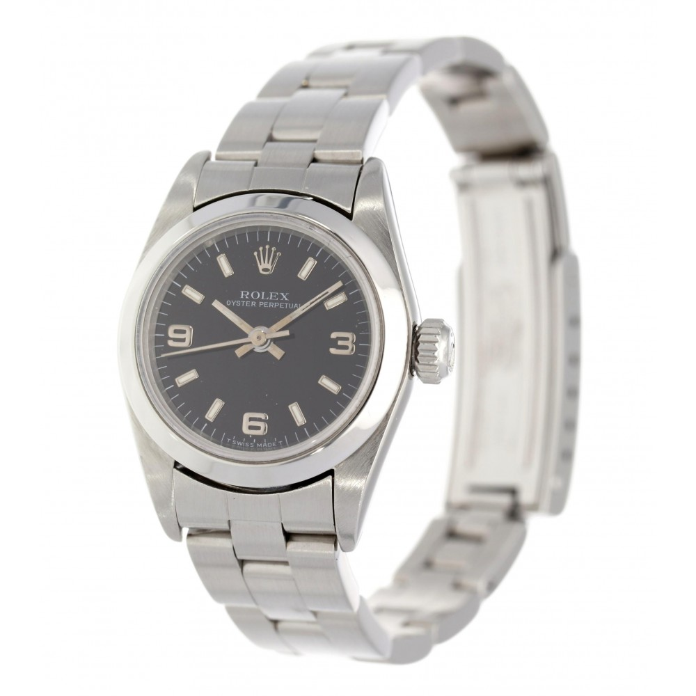 OYSTER PERPETUAL LADY 67180 STAINLESS STEEL 26MM W3685 67180-06