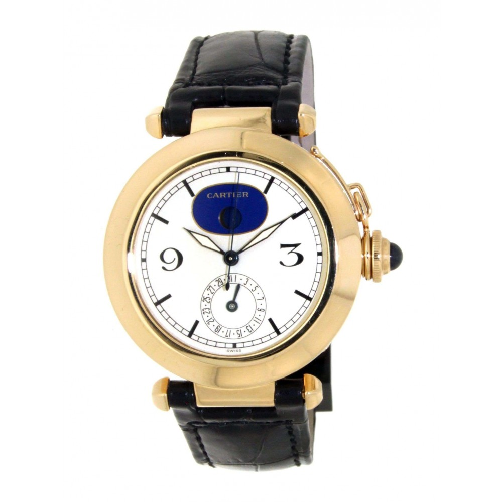 PASHA MOONPHASE 30001 IN 18KT YELLOW GOLD 38MM 1589 30001-03