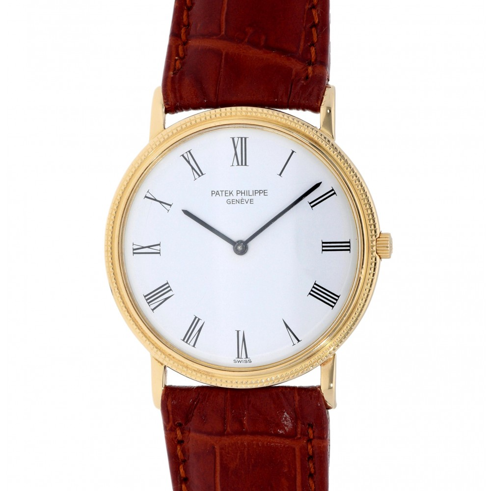 CALATRAVA 3520 YELLOW GOLD 32MM W2954 3520-03