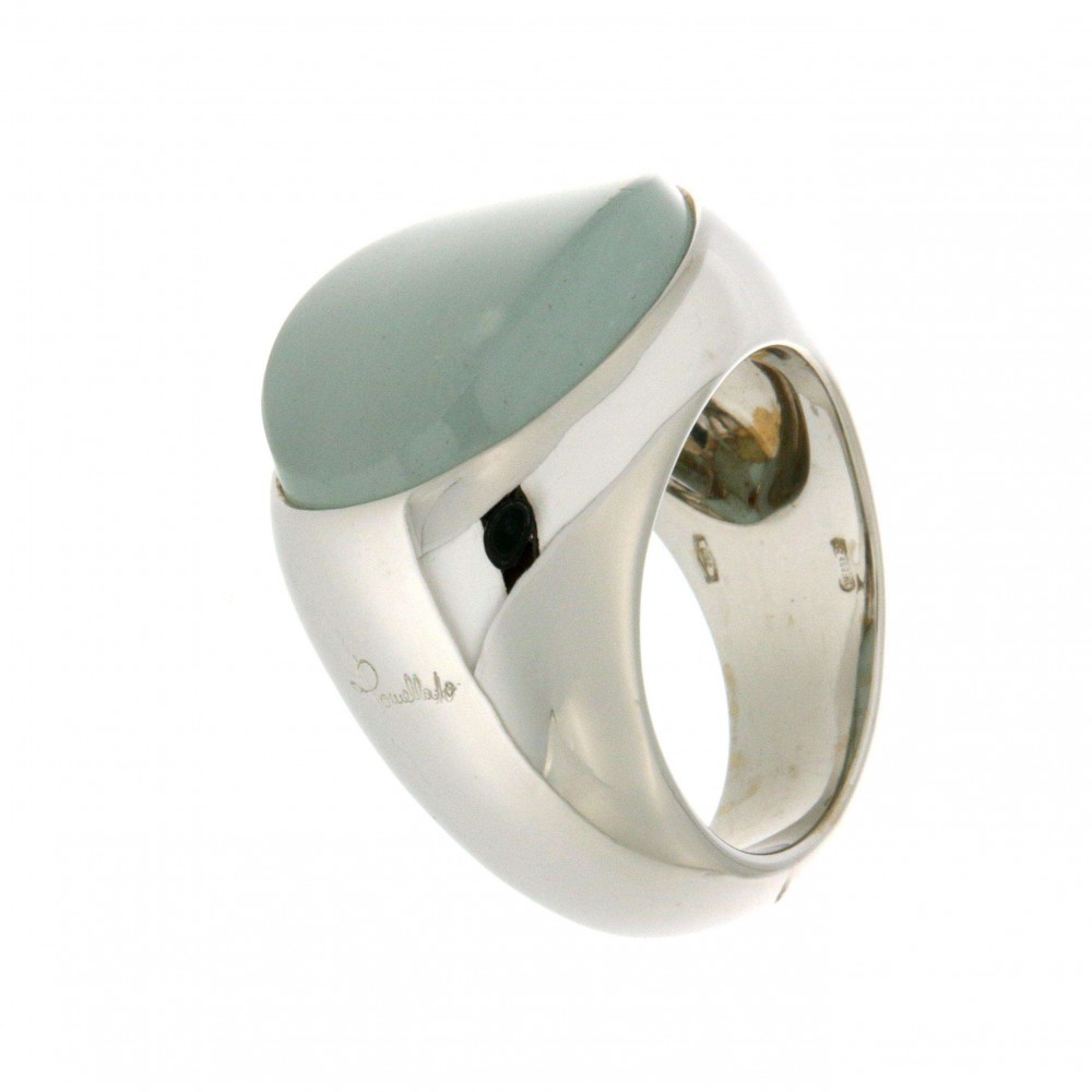 WHITE GOLD RING WITH .. J215-01