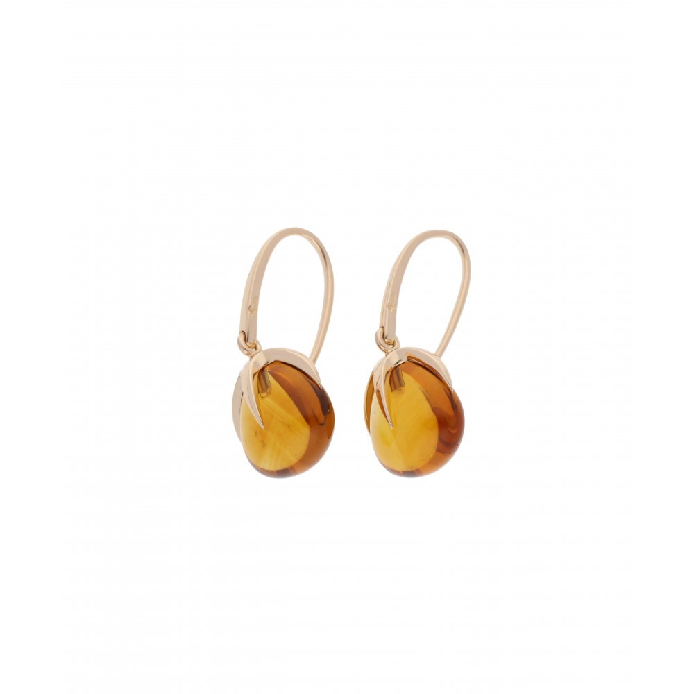 EARRING VELENO YELLOW GOLD QUARZ J945-01