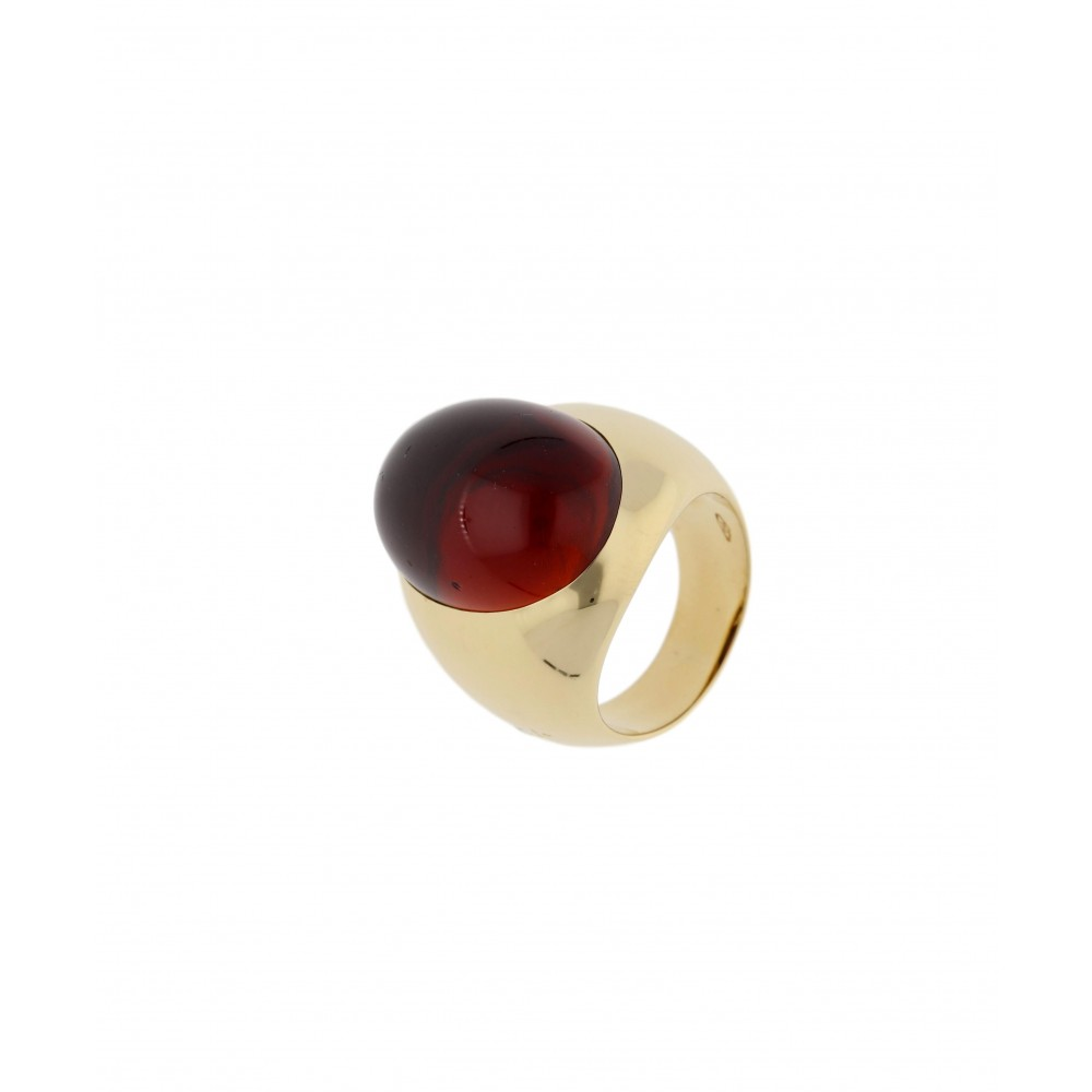 RING POMELLATO WITH GRANAT YELLOW GOLD J943-02