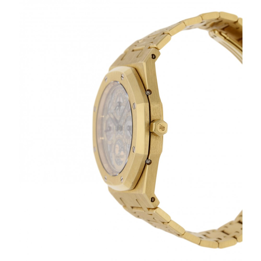 ROYAL OAK PERPETUAL CALENDAR SKELETON 25829BA.OO.0944BA.01 YELLOW GOLD 39MM W3574 25829BA.OO.0944BA.01-02