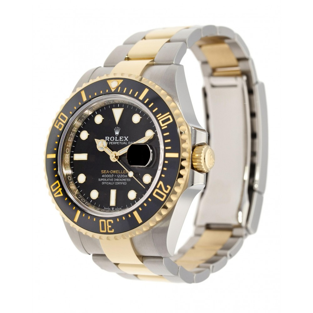 SEA DWELLER 126603 STAINLESS STEEL YELLOW GOLD 18K 43MM W3956 126603-04