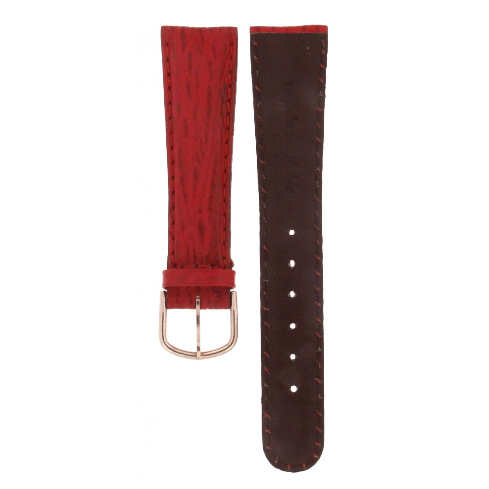 GENUINE SHARK LEATHER RED STRAP 20MM ACC223-01