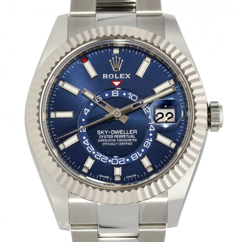 SKY DWELLER 326934 STAINLESS STELL BLUE DIAL NEW 2021 42MM W5069 326934-04