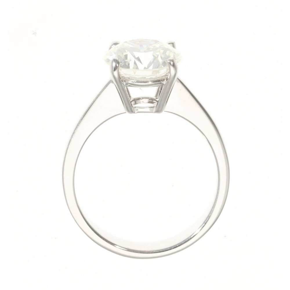 SOLITAIRE IN WHITE GOLD 3.23ct COLOR GRADE K CLARITY GRADE I1 RINGSIZE 54.5 J1314-03