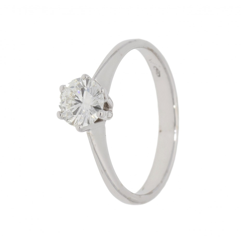 SOLITAIRE DIAMOND RING IN WHITE GOLD 0.60ct J983-01