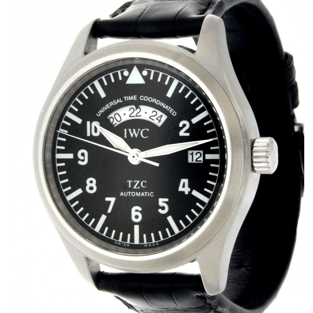 SPITFIRE UTC TZC IW3251 STEEL, LEATHER, 39MM W1439 IW3251-03