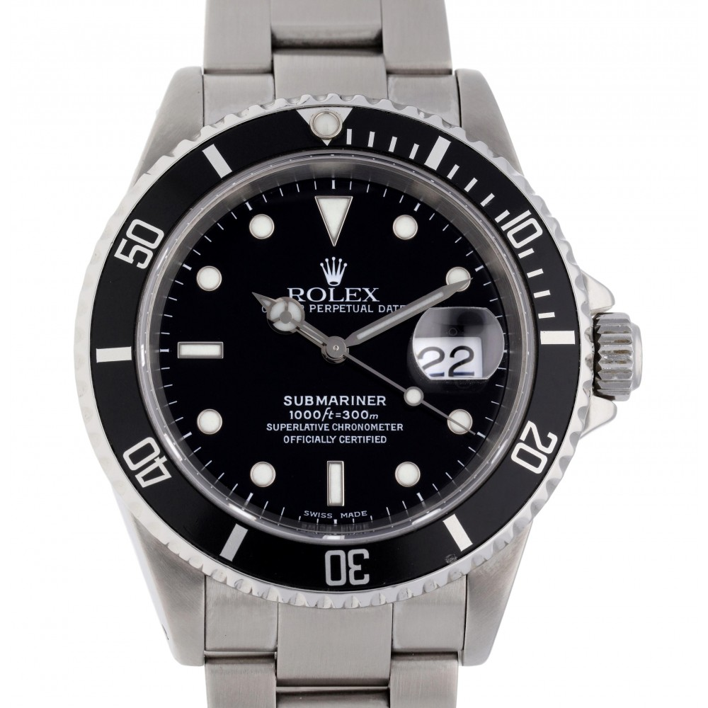 SUBMARINER 16610 STAINLESS STEEL 40MM W4861 16610-02