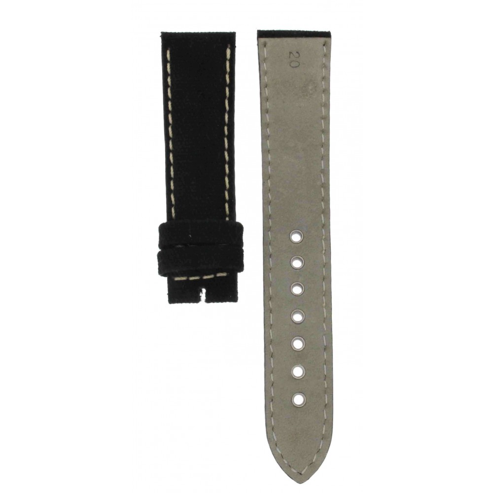 BLACK TEXTILE LEATHER STRAP 20MM ACC181-01