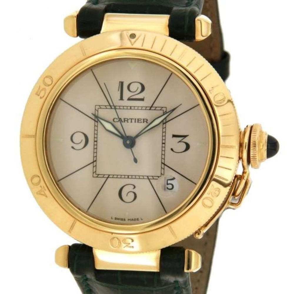 CARTIER PASHA 820903 IN 18KT YELLOW GOLD 38MM W482 1989-06